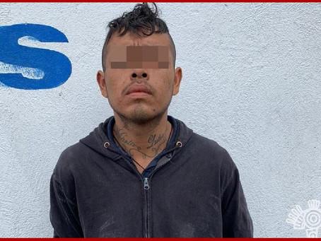 En Tehuacán, capturan policías Estatal y Municipal a un hombre con droga