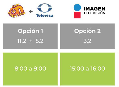 Estos son los horarios para el regreso a clases por TV