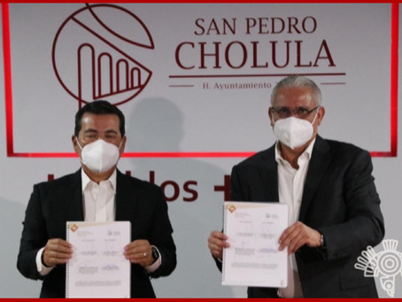 Firman convenio SSP y Cholula para la prevención del delito
