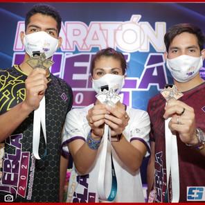 Presenta Inpode medallas y playeras conmemorativas del Maratón Puebla 2021