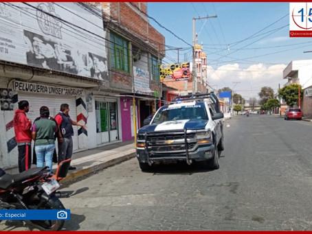 Refuerza policía de Texmelucan seguridad en colonias del centro y fortalece proximidad social