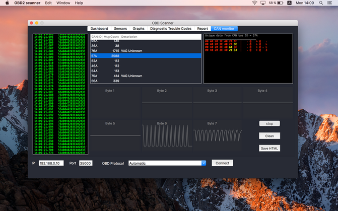 How to monitor CAN BUS data with cheap  ELM327