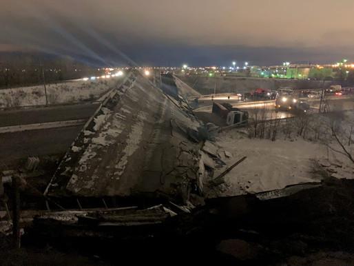ЧП! Разрушение моста в Оренбурге