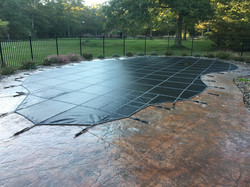 In ground swimming pool safety cover