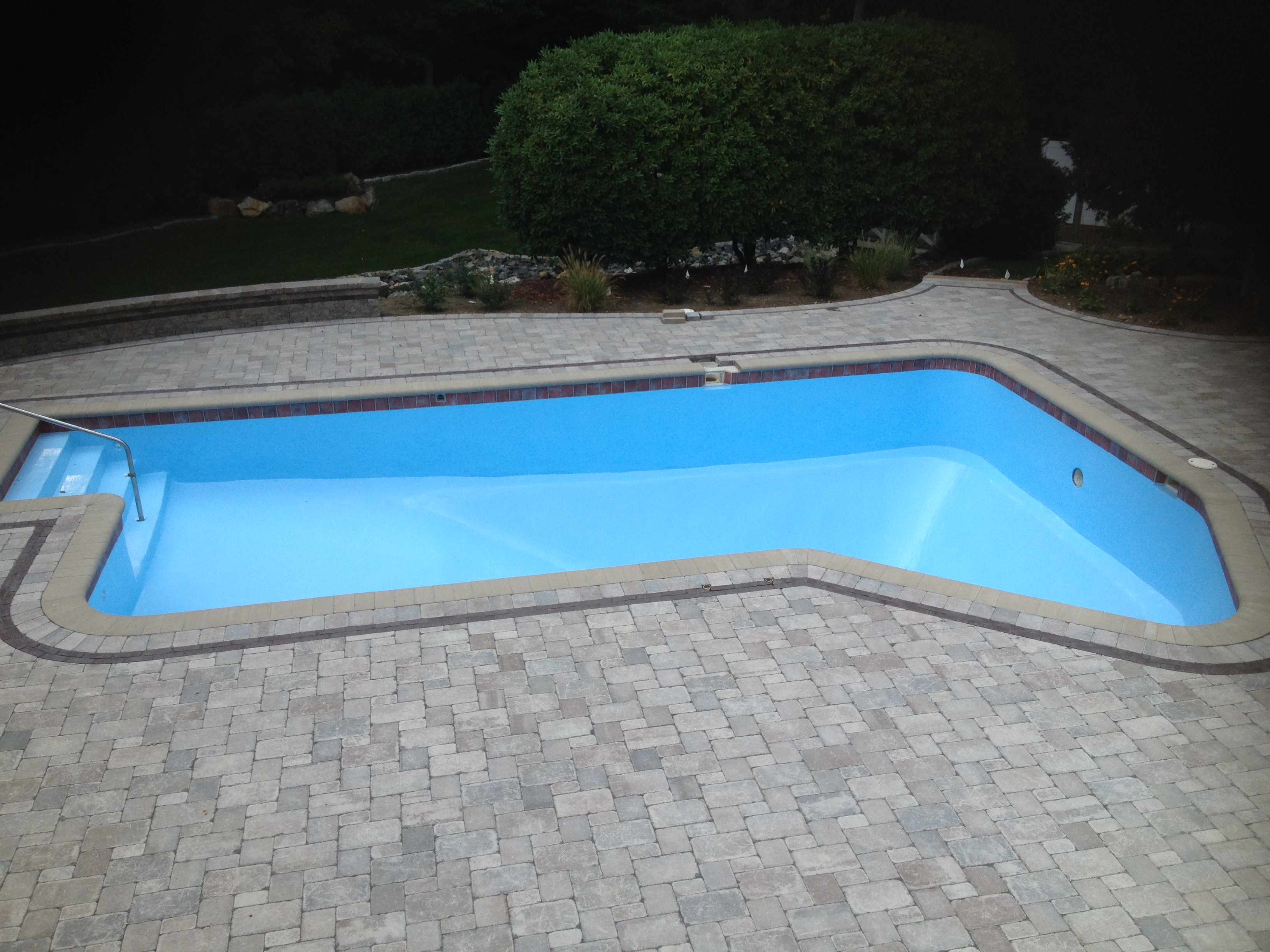 Inground swimming pool tile & paint