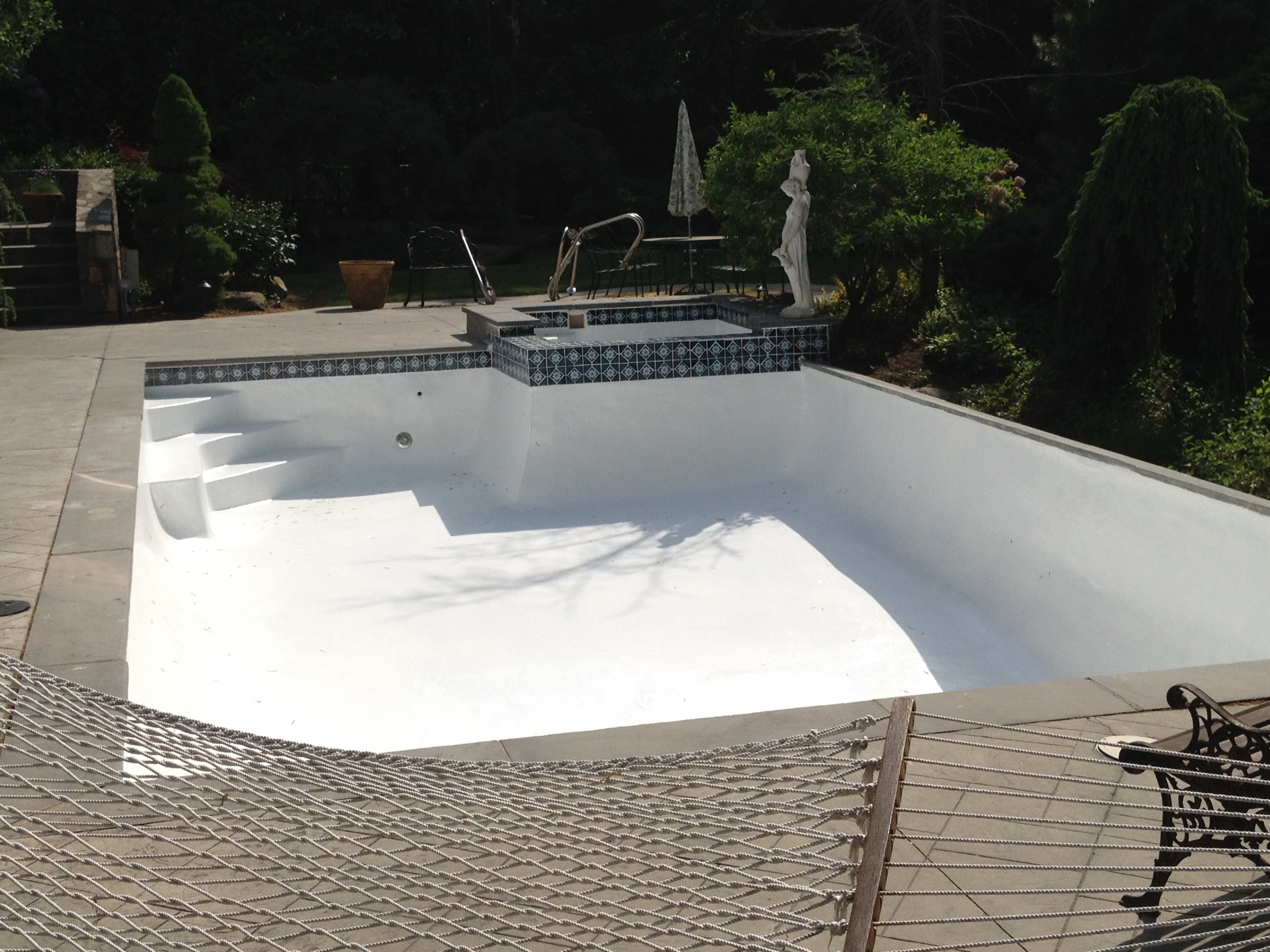 Inground swimming pool repair