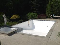 In ground swimming pool repair