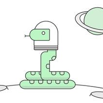 Illustration: Python Moon Landing