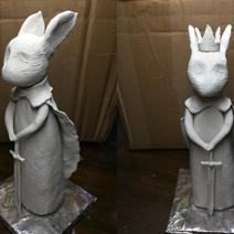 WIP Sculpture: Queen Bun