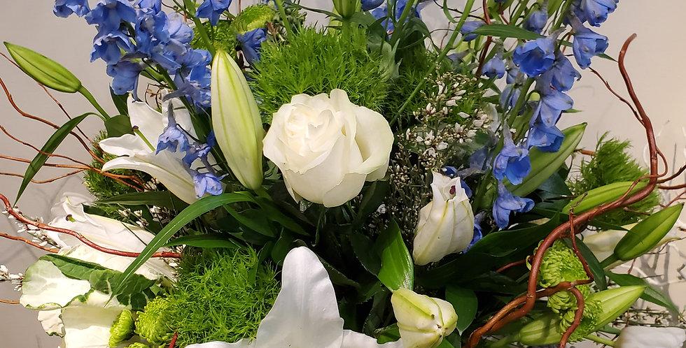 Mixed Blue and White Vase