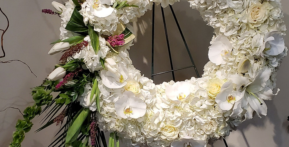 Large Solid White Wreath