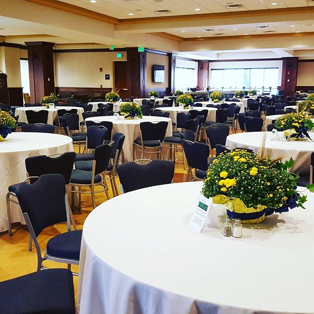 Just finished setting up an early morning event for ND!