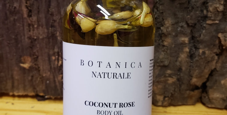 All Natual Coconut Rose Body Oil