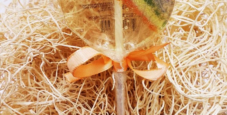 Handmade Sweet Caroline Hard Candy Lollipop- Rainbow