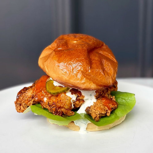 Buffalo Fried Chicken Burger