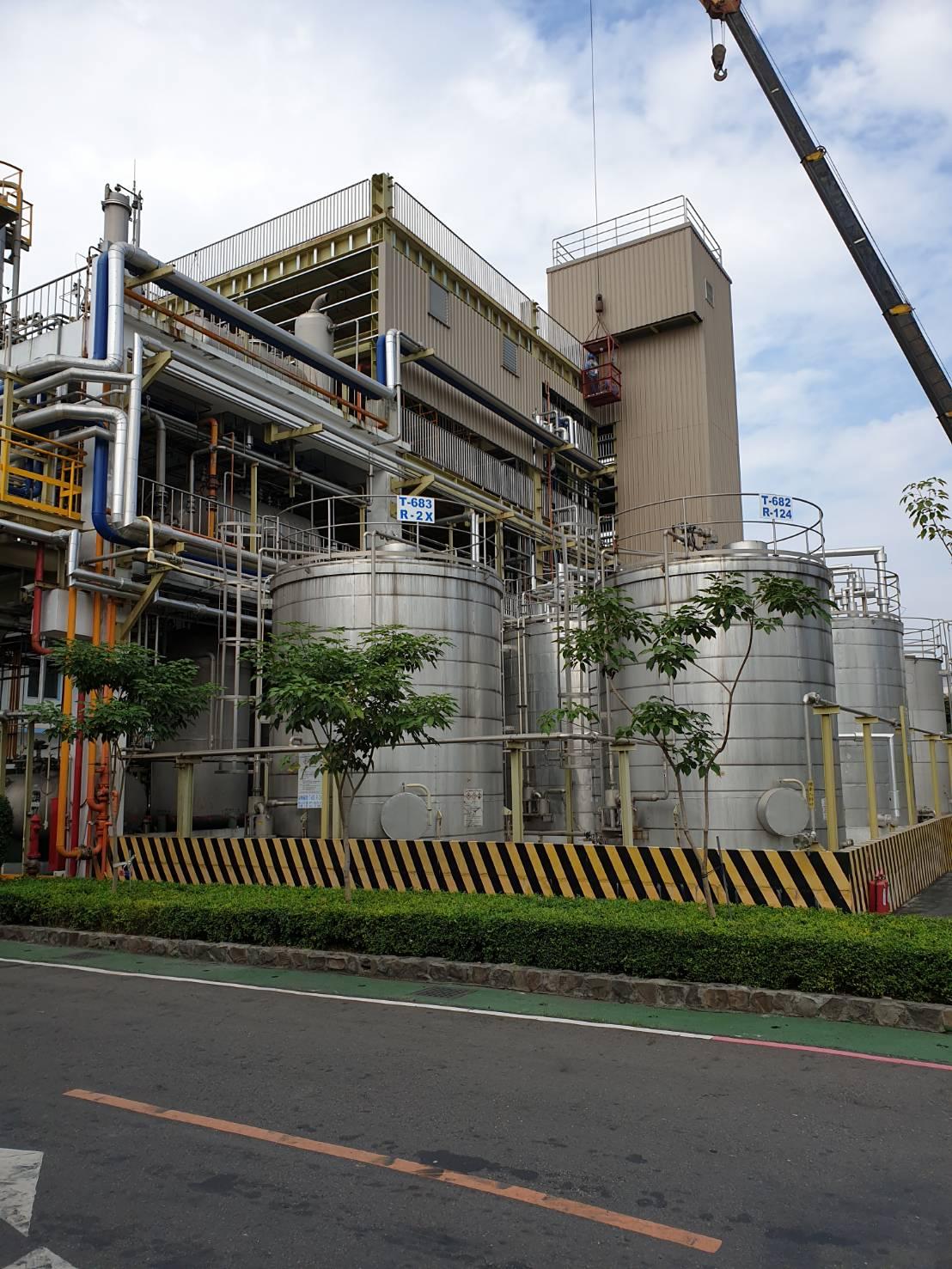 化工廠新桶槽安裝