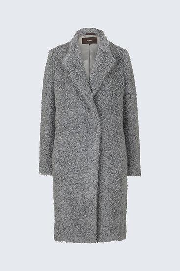 Smart Luxury Fun-Fur-Mantel in Grau