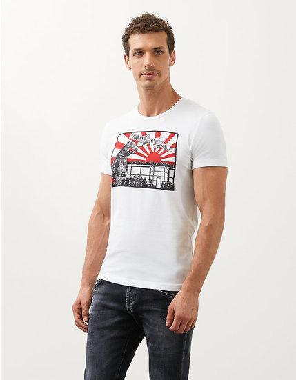 Slim-Fit-T-Shirt aus Jersey mit japanisch inspiriertem Print