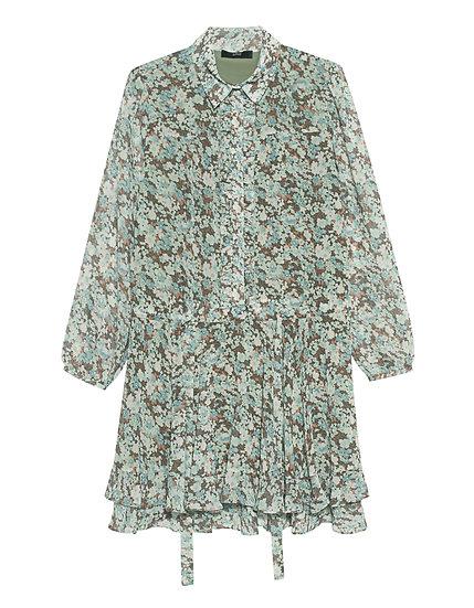 Taillenzug-Kleid