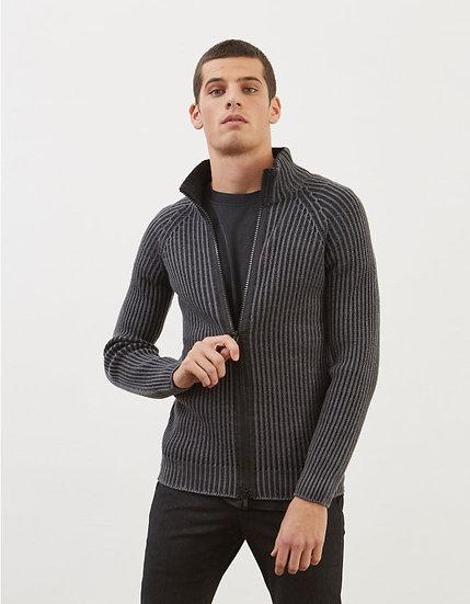 Woll-Cardigan mit Reißverschluss