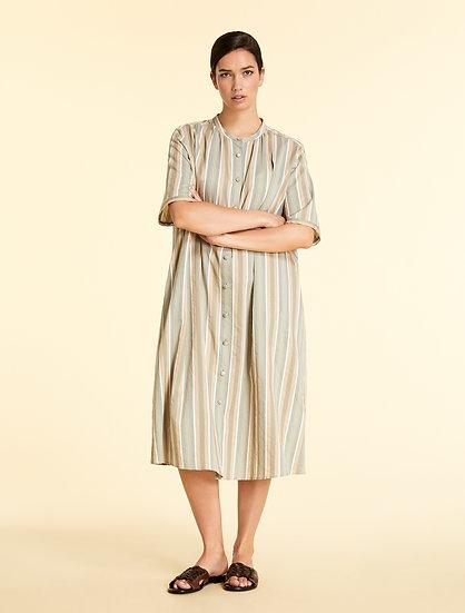 Marina Rinaldi Kleid aus Baumwolle und Seide