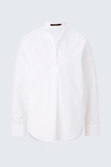 Bluse in Weiß gestreift