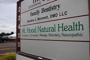 Mt. Hood Natural Health Outside Sign