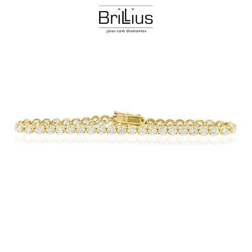 Pulseira Coroa 18K - Ouro branco ou amarelo