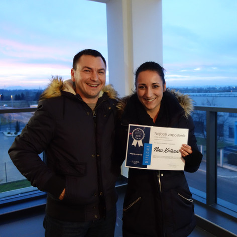 Nina Katanec najbolja zaposlenica u Mobilisisu za drugu polovicu 2018. godine