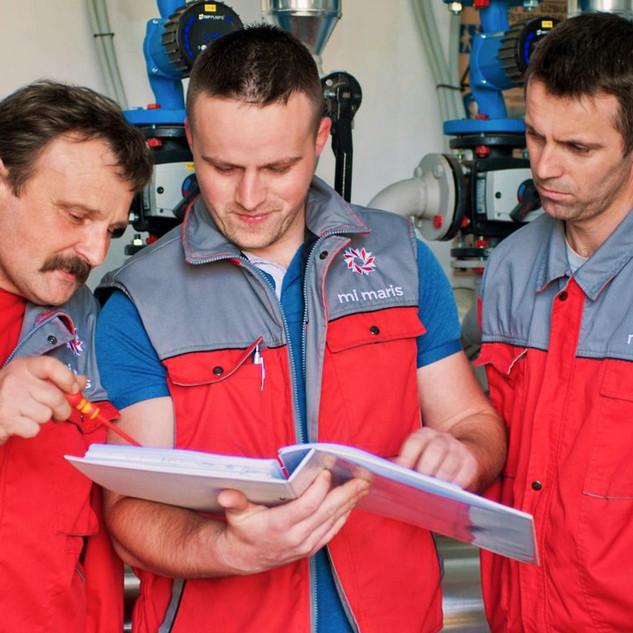 Preventive and corrective maintenance