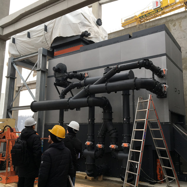 """Construction of the biomass-fired boiler room in the factory """"Danica - meat industry"""" in Koprivnica."""