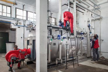 Reconstruction of the boiler room and installation of a new steam boiler, production of 6 t/h steam plant control system