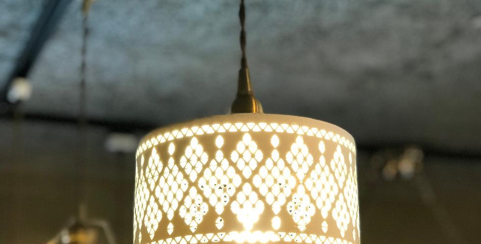 陶器シェードダイヤレースランプ
