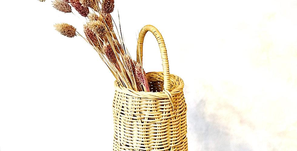よろけ編みの花挿し