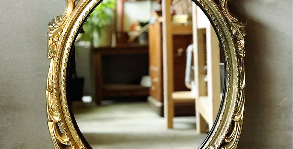 ロココ調 アンティーク風装飾ミラー