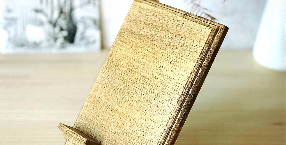 【SOLD OUTご注文可頂けます】角度55度・アンティークブラウン・オリジナルスマホスタンド縦型