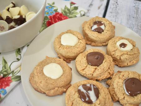 Healthy Peanut Butter Blossoms                      (Grain-Free & Refined Sugar-Free)