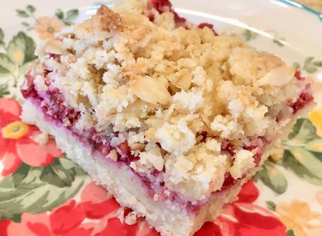 Berry Jam Bars                              (gluten-free & refined sugar-free)