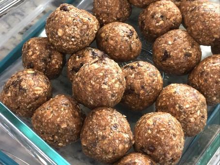 Oatmeal Raisin Protein Bites