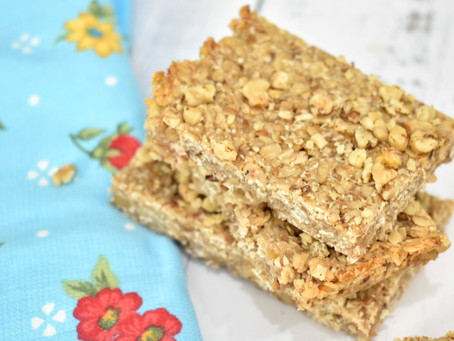 Banana Walnut Bars (Gluten-Free & Naturally Sweetened)