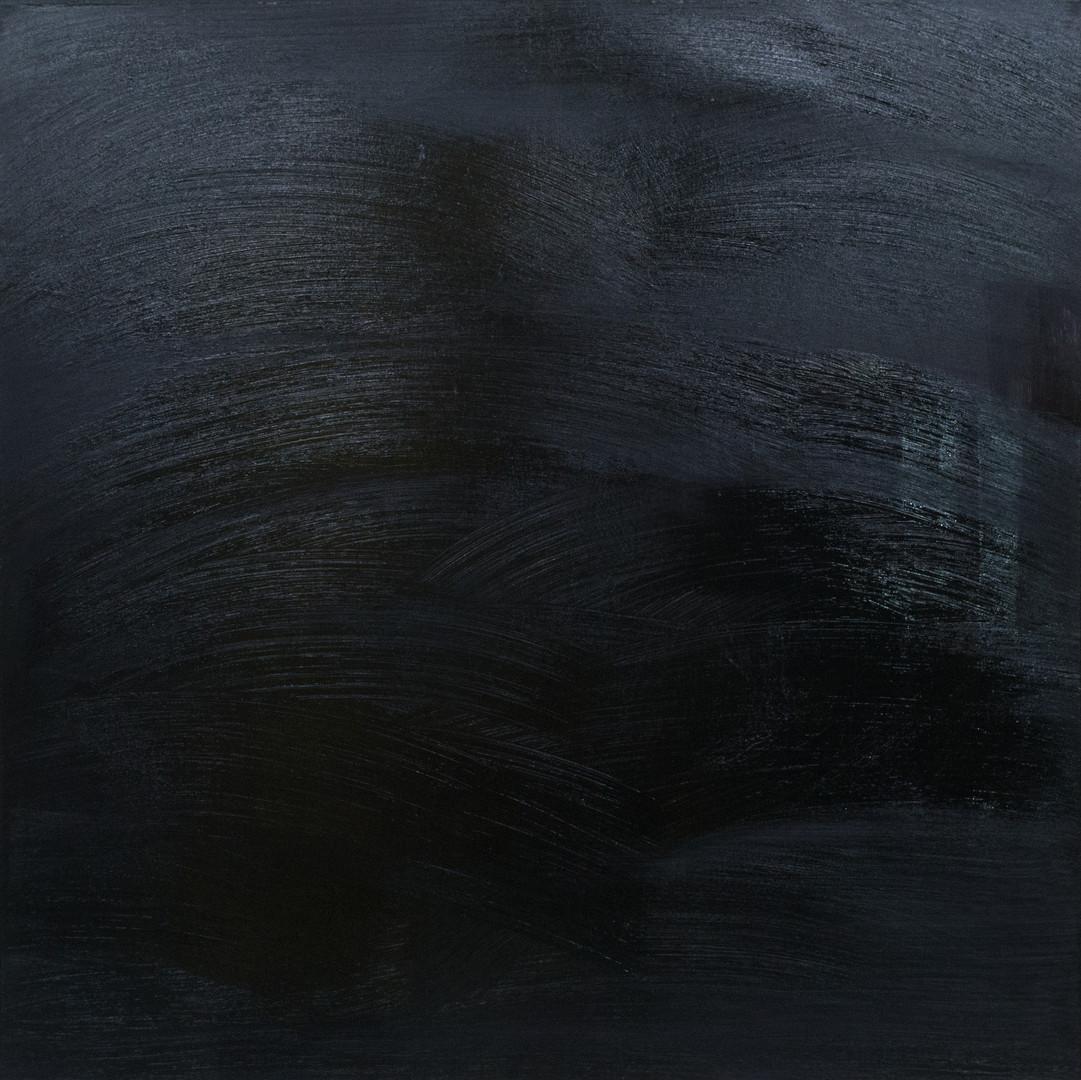 Negro 100x100 cm oil on canvas
