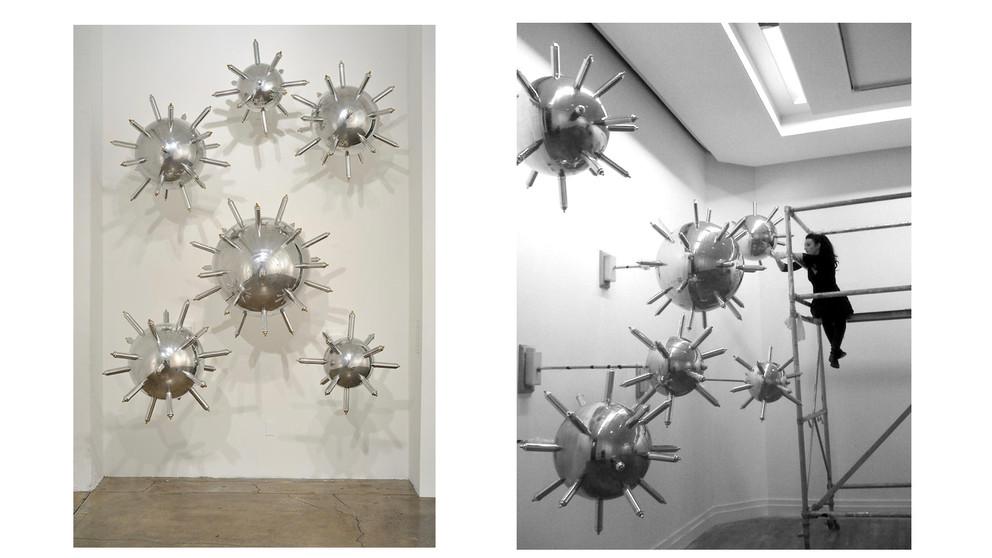 Minefield at the Royal Hibernian Academy, Installation shot of the Artist
