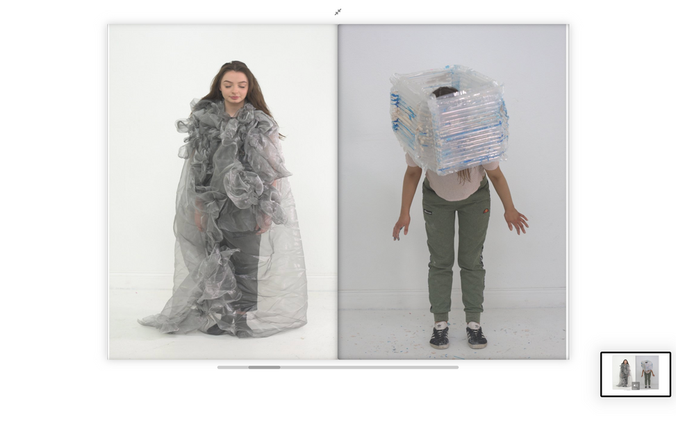 wearable sculpture project with year 2 SCM students and artists Rhona Byrne 2019