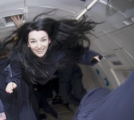 The artist in a parabolic flight