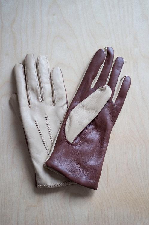 Moje rukavice - dvoubarevné s kašmírovou podšívkou