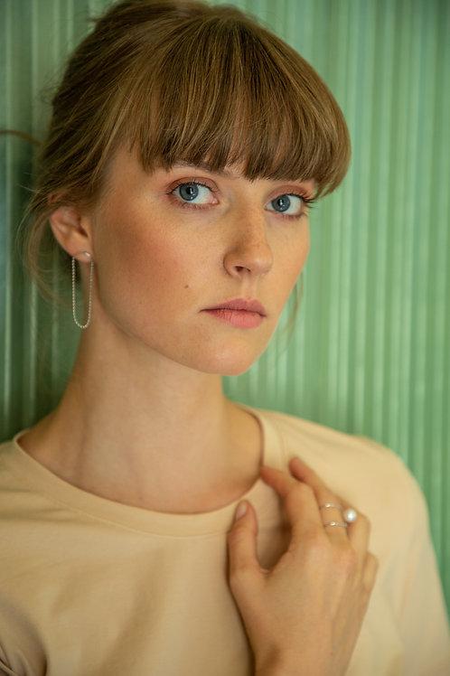 Adéla Pečlová – Dvojitý prsten s říční perlou
