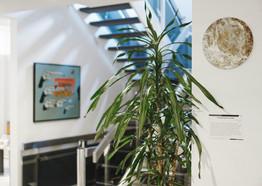 Ausstellung von Peter Neunzig - Technophilosophische Kunst in der Deutschen Bank