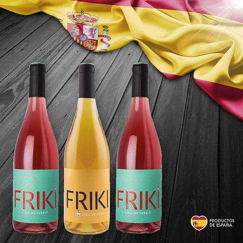 PACK ESPAÑA. 4 botellas FRIKI Rosado + 2 botellas FRIKI Naranja