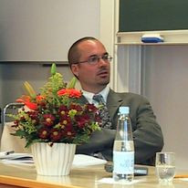 Michael Gruber during his PhD viva