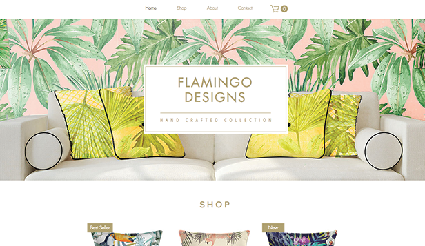 Webshop website templates – Hemdekoration